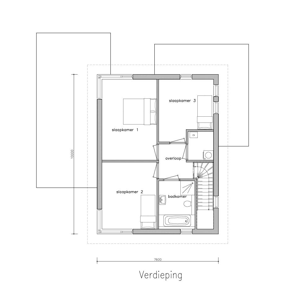 Plattegrond XG 590 1 1 | Gorate Garant Woningen