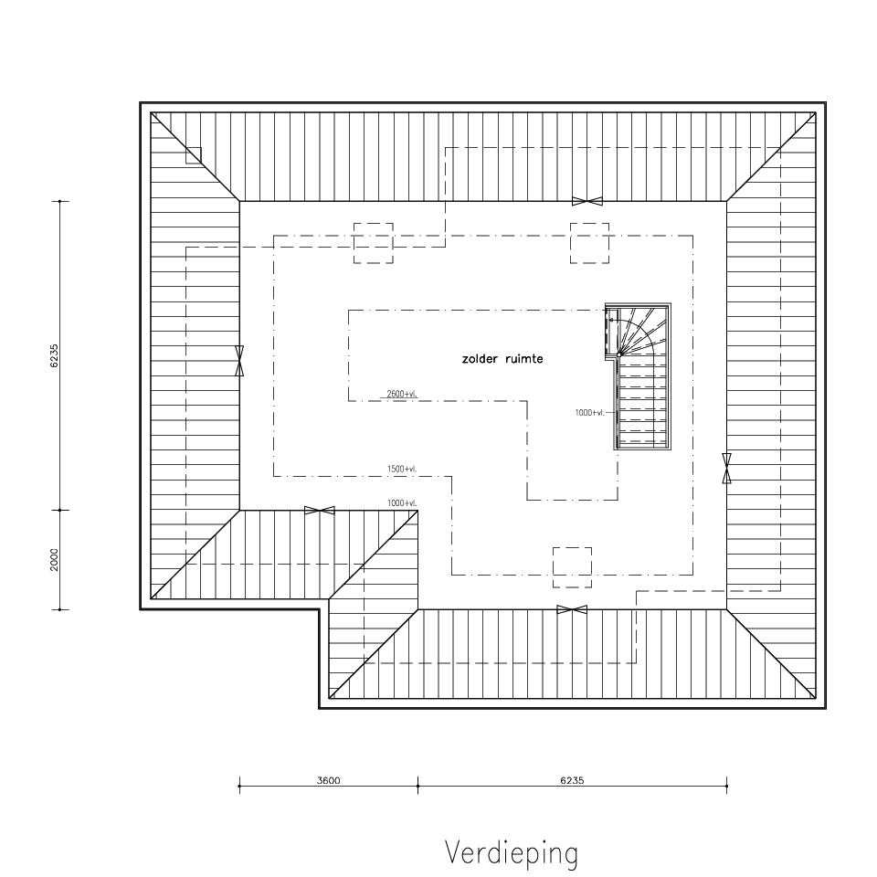 Plattegrond bungalow 525 2 | Gorate Garant Woningen