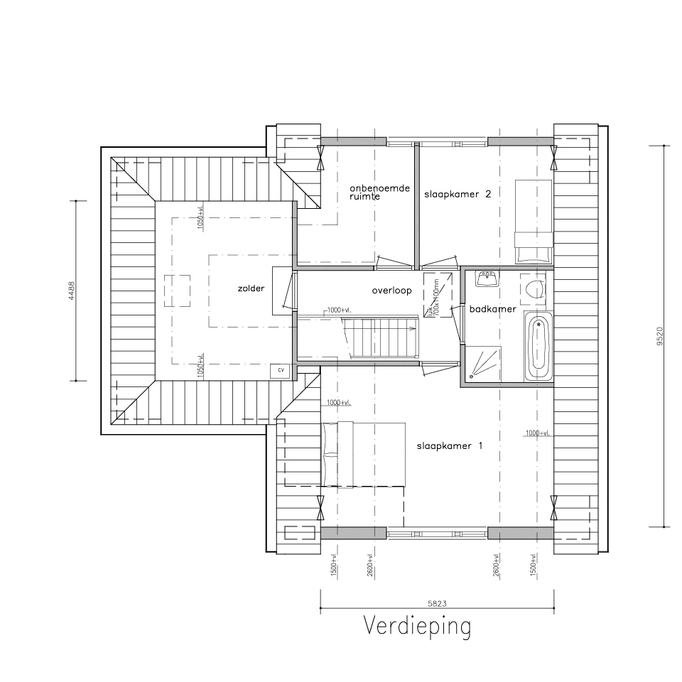 Plattegrond dwarskap 565 2 | Gorate Garant Woningen