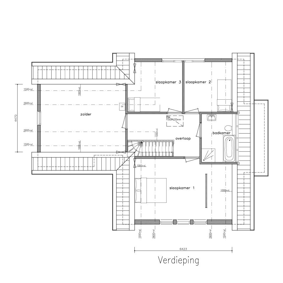 Plattegrond dwarskap 730 model 1 2 | Gorate Garant Woningen
