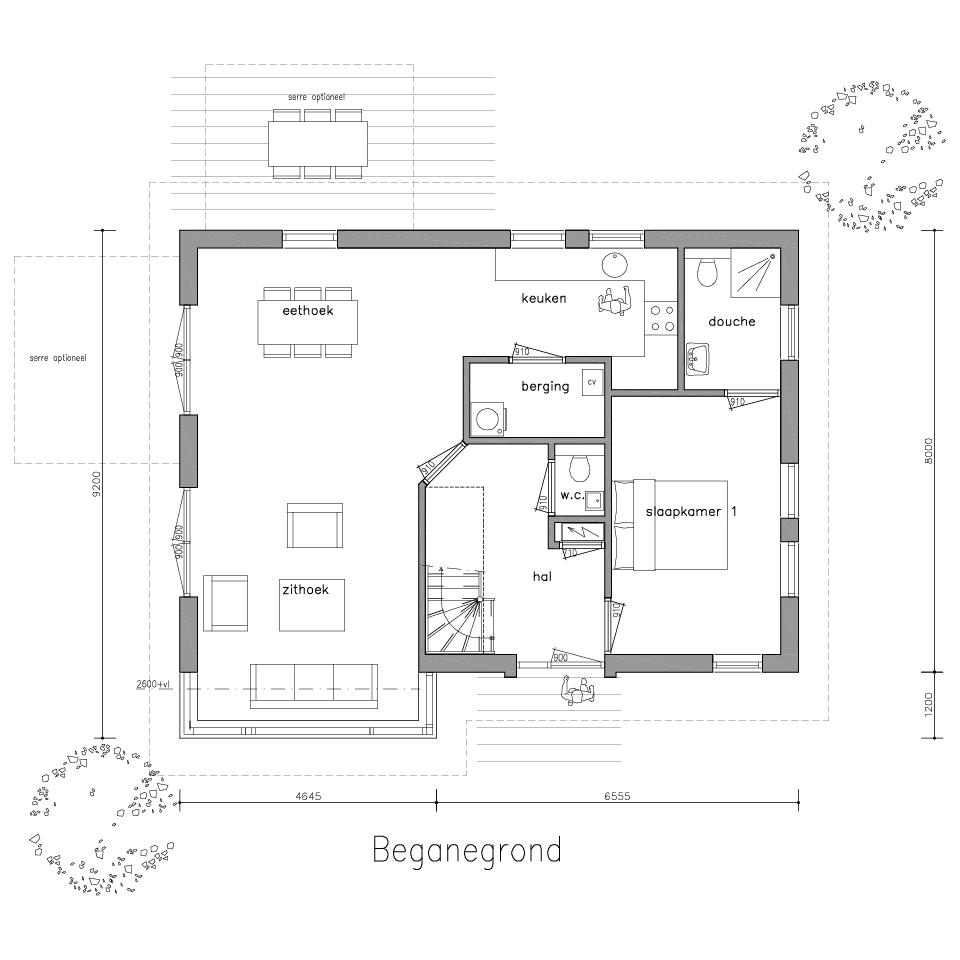 Plattegrond gl 505 2 model 2 1 | Gorate Garant Woningen