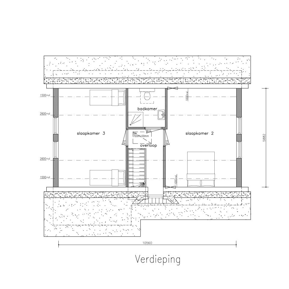 Plattegrond gl 505 2 model 2 2 | Gorate Garant Woningen