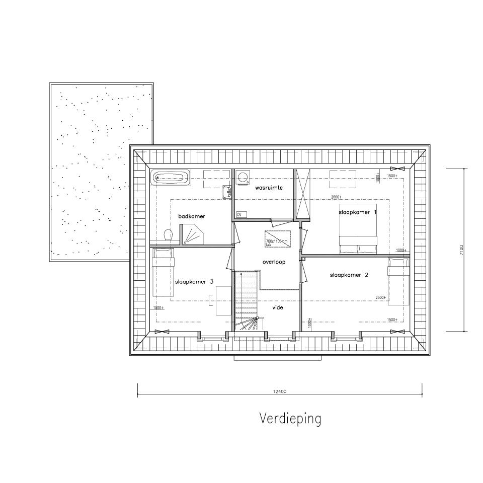 Plattegrond ng 690 2 model 1 1 | Gorate Garant Woningen