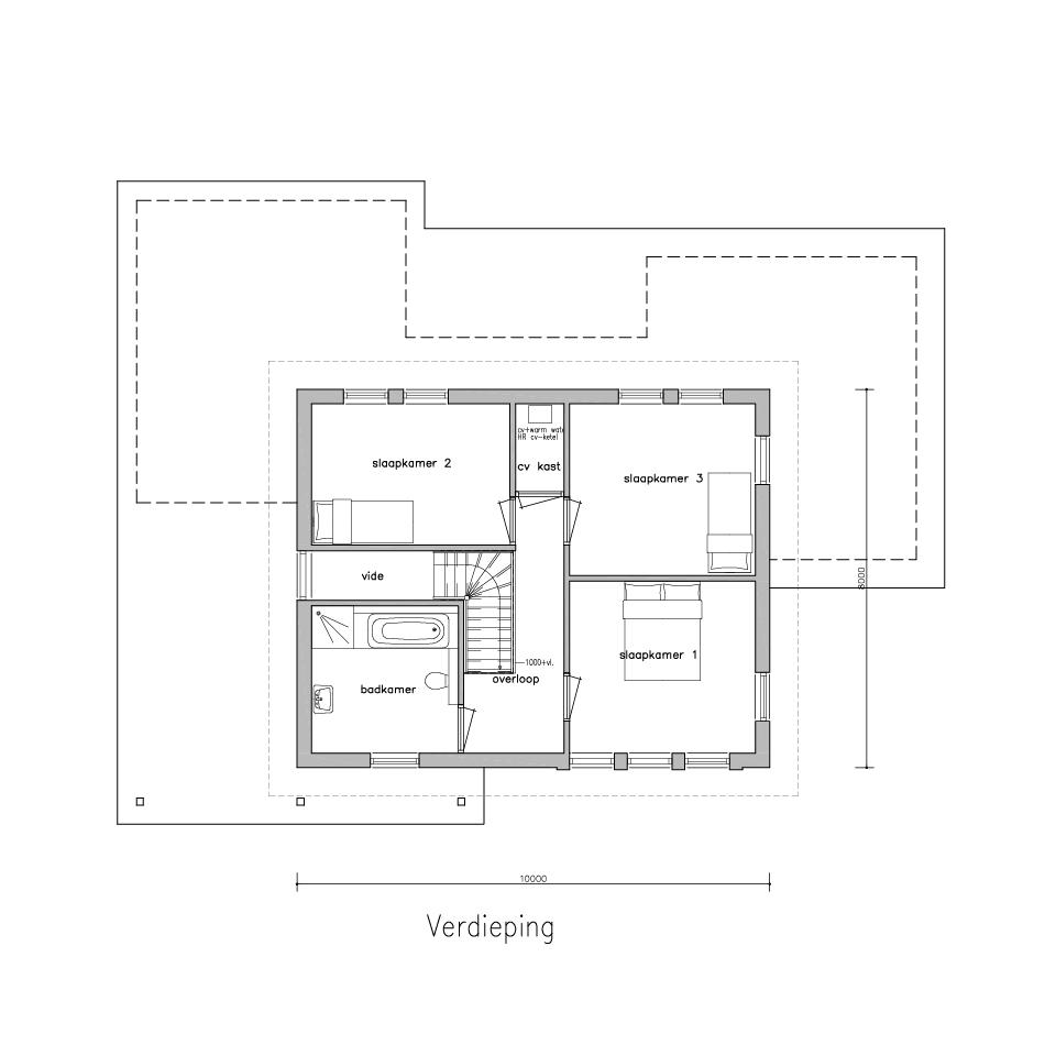 Plattegrond xg 670 model 1   Gorate Garant Woningen