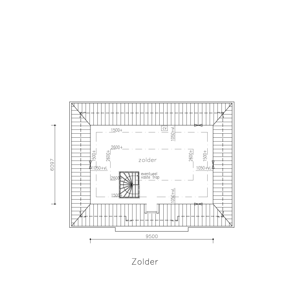 Plattegrond xg 770 model 1 2 | Gorate Garant Woningen