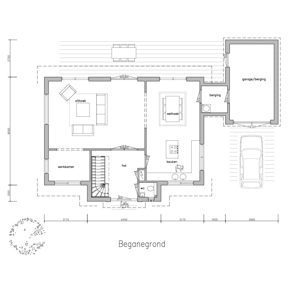 plattegrond gl 740 2 model 1 2 | Gorate Garant Woningen